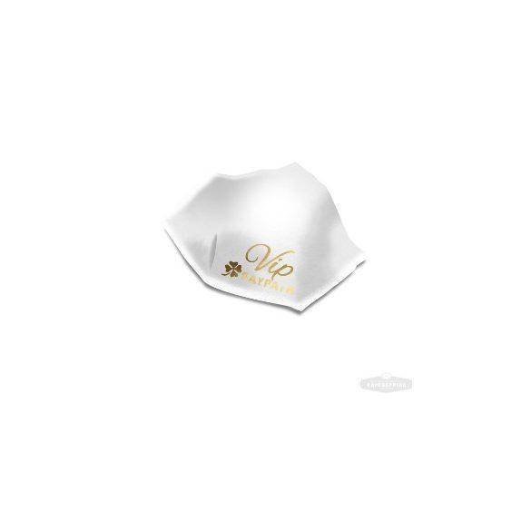 Újrafelhasználható maszk nano-ezüsttel - Fehér & arany